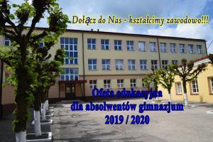 Oferta edukacyjna na rok szkolny 2019 / 2020 dla absolwentów gimnazjum